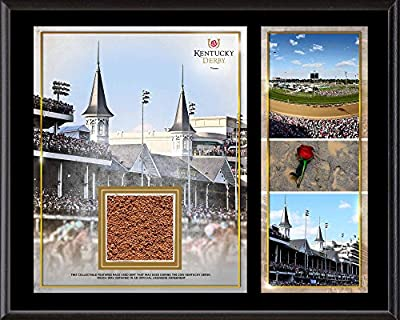 "Kentucky Derby 12"" x 15"" Sublimated Plaque with Race-Used Dirt - Fanatics Authentic Certified - Horse Racing Plaques, and Collages"
