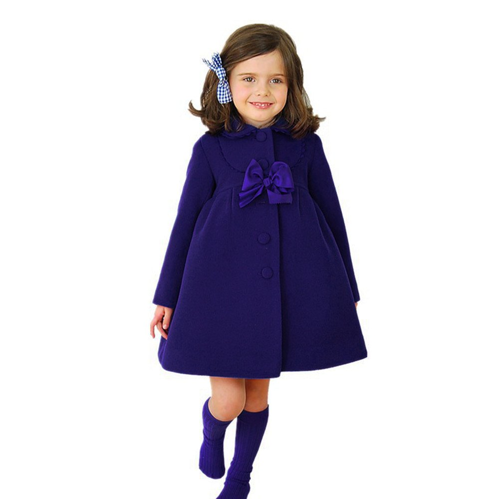 Moonper Kid Children Toddler Baby Girls Winter Autumn Butterfly Dish Lace Coat Cloak Jacket Overcoat Thick Warm Clothes