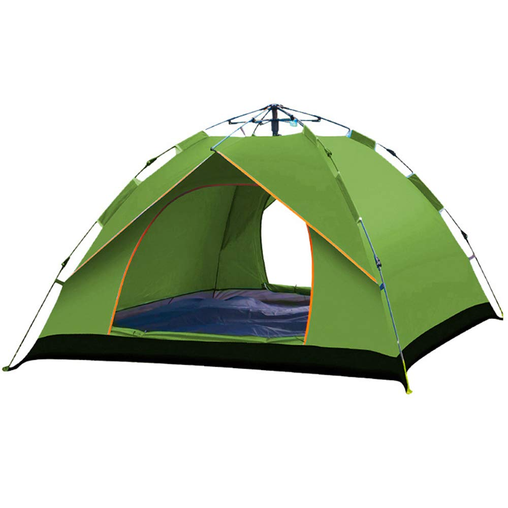 LIBWX Camping Tent 3-4 Person,Hydraulic Dome Tent Canopy for Camping Automatic Waterproof Hydraulic with Carrying Bag,Green,210150125cm by LIBWX