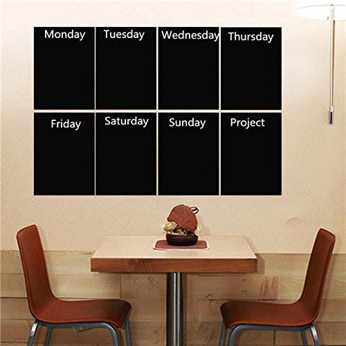 Pink Lizard 8pcs Black A4 Paper Chalkboard Wall Sticker Removable Blackboard With One Chalk Home Decal