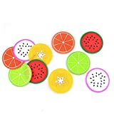 uxcell Fruit Protective Mat Tea Bowl Coffee Cup Dish Pad 10 Pcs Multicolor