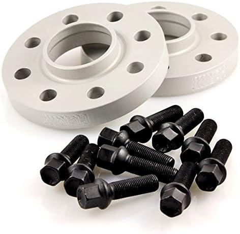30 mm//Achse TuningHeads//H/&R .0427299.DK.SB-3055665 Spurverbreiterung BlackDrive schwarze Radschrauben 30 mm//Achse