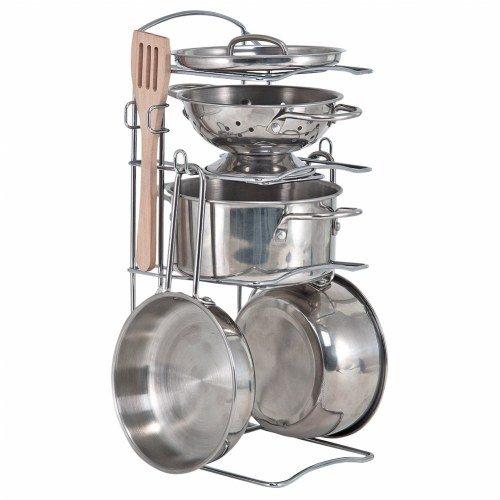Pretend Play Stainless Steel Kitchen Essentials