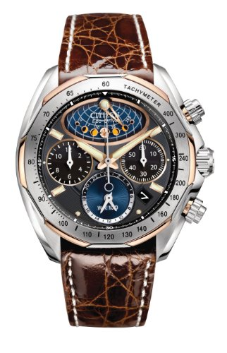 Citizen Men's AV3006-09E The Signature Collection Eco-Drive Moon Phase Flyback Chronograph ()