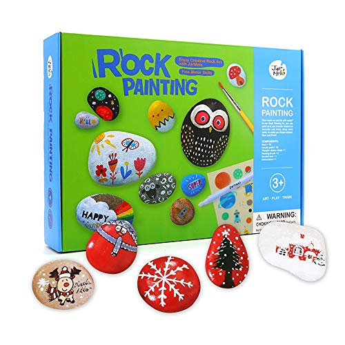 Fun Halloween Crafts For 2 Year Olds (Jar Melo Rock Painting Kit; Non-Toxic; Hide and Seek Rock Art; Creative Colorful Magic Stone; Creative Gift; Arts and Crafts Kits for Adults and)