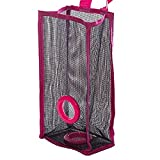 Clearance Deal! Fitfulvan Plastic Organizer Breathable Mesh Garbage Bags Kitchen Hanging Storage Bags (Red)