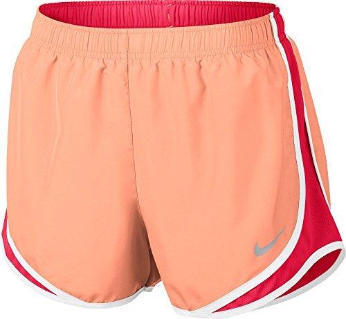 Running Tempo Shorts Women Nike Fit Dri (NIKE Women's Dri-Fit Tempo Running Shorts-Peach/Pink-XL)
