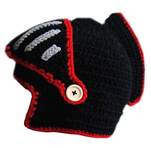 Kuyou - Gorro de punto - para hombre blanco / rojo