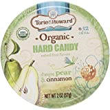 D'Anjou Pear & Cinnamon Organic Hard Candy 2 oz by Torie & Howard - Pack of 2 Tins