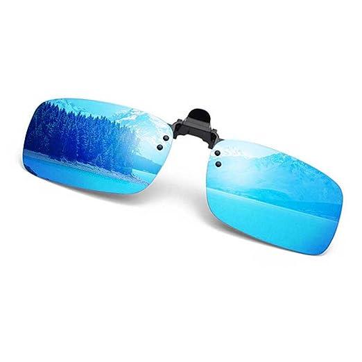 d595d6a4912 Polarized Clip on Sunglasses Rectangular Anti Glare UV400 Flip up Clip-on  Sunglasses Over Prescription