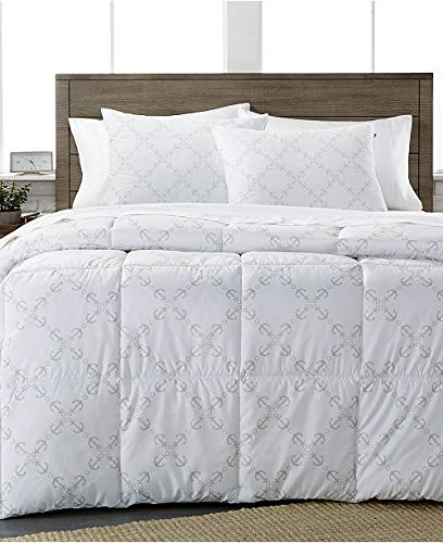 Tommy Hilfiger Polyester Comforter - Tommy Hilfiger Anchor Lattice Twin Size Comforter