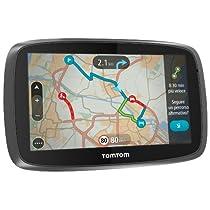 """TomTom GO 5100 World - Navegador GPS (5"""" pantalla táctil capacitiva, soporte magnético, control de voz), (versión europea España, Italia)"""