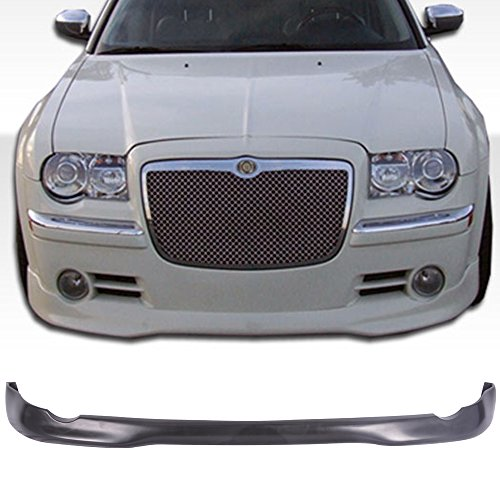 Front Bumper Lip Fits 2005-2010 Chrysler 300 300C | VIP Style Unpainted PU Lip Spoiler Air Dam Chin Protector by IKON MOTORSPORTS | 2006 2007 2008 2009