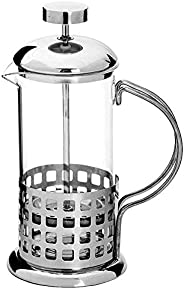 Cafeteira Francesa French Press Inox e Vidro Casa 350 ml