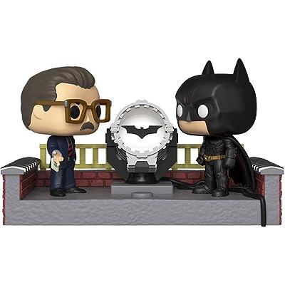 Funko Pop! Movie Moment: Batman 80th - Batman with Light Up Bat Signal: Toys & Games