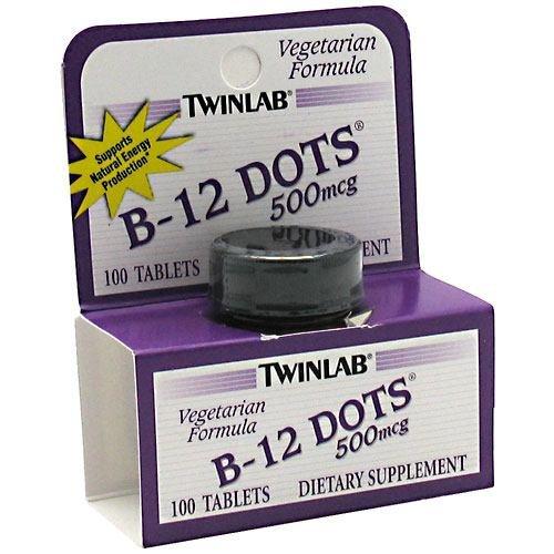 - TWINLAB B-12 DOTS,500 MCG, 100 DOT