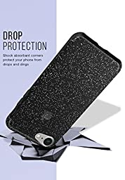 Silk iPhone 7 Glitter Case - PureView for iPhone 7 [Ultra Slim Fit Clear Sparkle Cover] - Smoked Silver