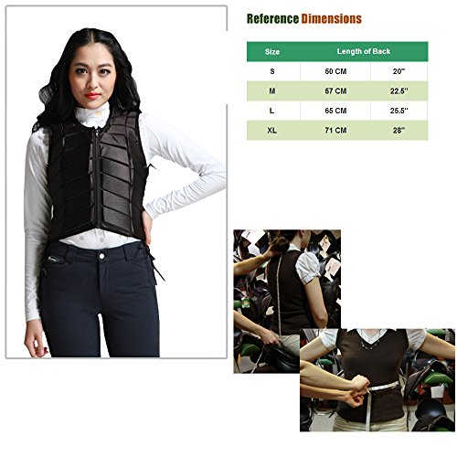 GFDHHNN Horse Riding Equestrian Body Protector Safety Eventer Vest Protection Protective (Black, L) by GFDHHNN (Image #4)