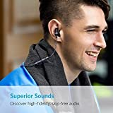 Anker SoundBuds Slim Wireless Headphones, Bluetooth 4.1 Lightweight Stereo Earbuds with Magnetic Connection, NANO Coating Sweatproof Sports Headset with Metallic Housing & Built-in Mic (Black)
