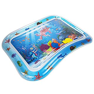 AIR U+ Tummy Time Baby Water Mat,Infant Sensory Toy Inflatable Play Mat,Toddler Pat Toys,Baby Gifts for 3 6 9 12 Months Newborn Boy Girl,Activity Center Your Baby's Stimulation Growth