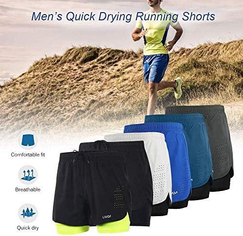 1ショーツメンズ速乾性通気性のアクティブトレーニングスポーツジョギング・マラソンサイクリングフィットネスで2 (Color : Grey, Size : XXL)