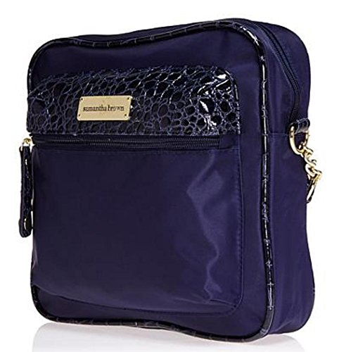 Crossbody Samantha Bag Navy RFID Brown aHx7Y