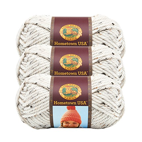 (3 Pack) Lion Brand Yarn 135-302 Hometown Yarn, Aspen Tweed ()