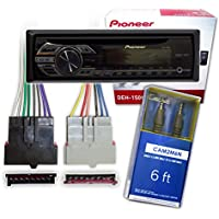 Pioneer DEH-150MP Single DIN Car Stereo With MP3 Playback + Harness 1985-2004 Ford/Lincoln/Mercury + FREE Mini-to-Mini AUX Cable**