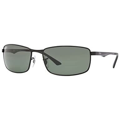 312ad3a3ce2 Amazon.com  Ray-Ban Sunglasses - RB3498   Frame  Black Lens  Green ...