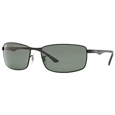 9a72f11f76 Amazon.com  Ray-Ban Sunglasses - RB3498   Frame  Black Lens  Green ...