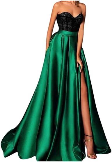 iluckin Elegant Abendkleider /Ärmellos Spitzenkleider Vintage Cocktail Partykleider Wadenlang Brautkleider Hochzeitskleider Wei/ß Elfenbein