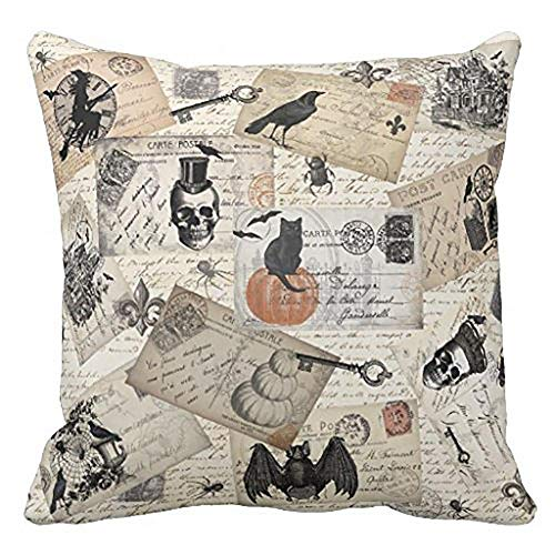 HGWXX7 Happy Halloween Pillow Cases Linen Sofa Cushion Cover Home Decor Many Color & Size Options(B-1)