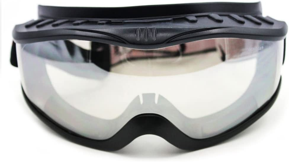 Fit Over Glasses Anti-fog Riding Goggles Black Frame Clear Lens