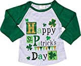 BluNight Collection Little Girl Kids Rainbow Ruffle Sleeve Raglan Cotton Shirt Top Tee T-Shirt 2T-8