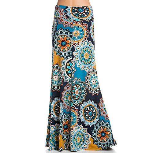 922fbec86c29 best Junky Closet Women's Foldover High Waisted Floor Length Maxi Skirt