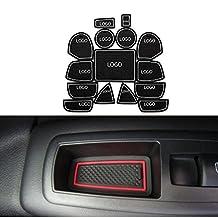 Car Design For Jeep Grand Cherokee 2011 To 2014 Car Door Groove Mat Non-slip Mats Cup Mat 15pcs Latex Anti Slip Mat Car Styling White
