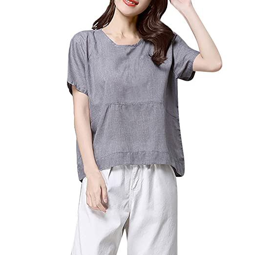 e128b3a673 Women Cotton Linen Tunic Tops
