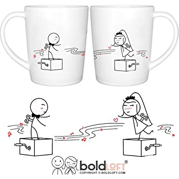 BOLDLOFT Endless Love Wedding Coffee Mugs- Wedding Gifts for the Couple, Wedding Gifts for Bride and Groom, Newlywed Gifts, Engagement Gifts, Wedding Registry Gifts, Wedding Anniversary Gifts