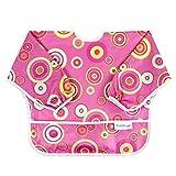 Bumkins Waterproof Sleeved Bib, Pink Fizz (6-24 Months)