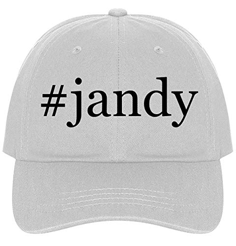 The Town Butler #Jandy - A Nice Comfortable Adjustable Hashtag Dad Hat Cap, White