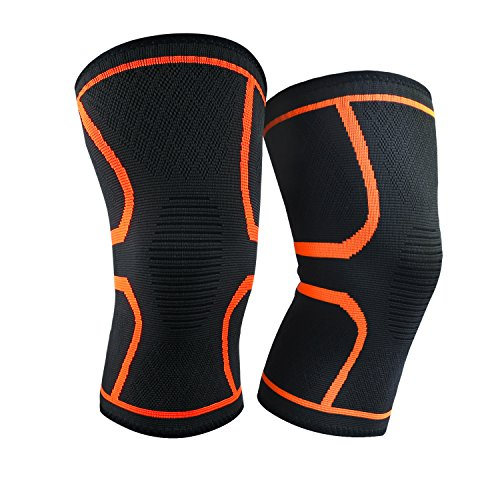 ALTMAN Knee Braces Compression Knee Sleeve for Men/Women 1-Pair Knee Support for Joint Pain and Arthritis Ideal for Running, Jogging, Basketball (Large) by ALTMAN