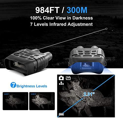 CANIS LATRANS Digital Night Vision Binoculars Night Vision Goggles Night Vision Scope for Complete Darkness, 4X Digital Zoom, 2.31\