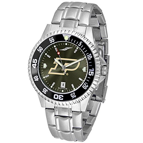 Purdue Boilermakers Competitor Steel AnoChrome Color Bezel Men's (Team Color Competitor Watch)