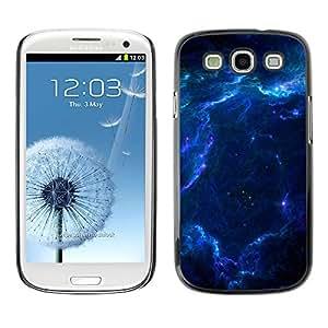 Qstar Arte & diseño plástico duro Fundas Cover Cubre Hard Case Cover para SAMSUNG Galaxy S3 III / i9300 / i747 ( Blue Glas Cloud Galaxy Stars Planets Universe)
