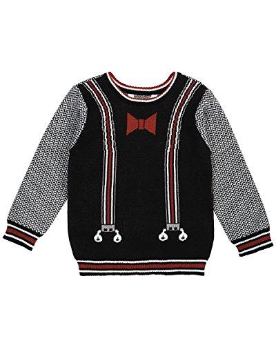 (Petit Lem Boys' Lil Mister Knit Sweater, Black 6)