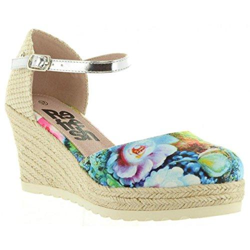Zapatos de cuña de Mujer REFRESH 63312 TEXTIL JEANS