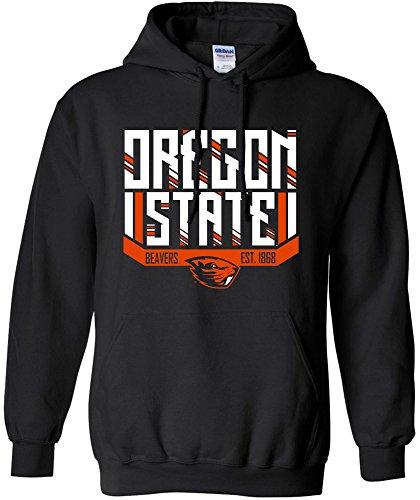 - NCAA Oregon State Beavers Adult NCAA Bars & Stripes Hooded Sweatshirt,XL,Black