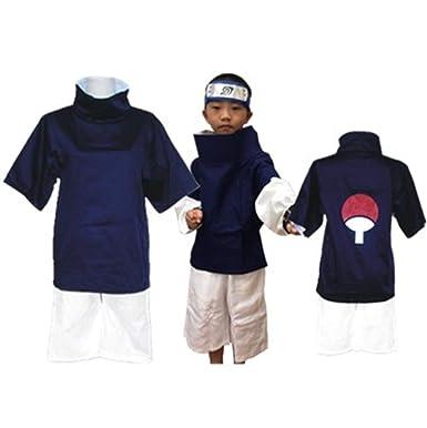 Amazon.com  YOUYI Naruto Uchiha Sasuke Halloween Cosplay Costume for Kid  Blue  Clothing 4184264b42ce