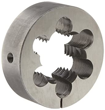 "Union Butterfield 2010(UNC) Carbon Steel Round Threading Die, Uncoated (Bright) Finish, 3"" OD, 1-1/2""-6 Thread Size"