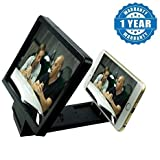 Drumstone Mobile Phone 3D Portable HD Magnifier Enlarge Movie Screen Folding Stand For All Android & Iphone Smartphones (Black)